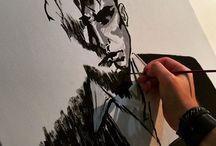 Dylan Dog - Quadro PopArt #DylanDog #popart #arte #art #Comics / Quadro di Dylan Dog realizzato su tela 30x40 con Tempere Acriliche. #popart #arte #art #Comics