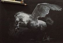 Awesome Horse Drawings / Sketches by artist Tony O'Connor. Visit www.WhiteTreeStudio.ie