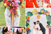 A Summer Colour Splash Bash / When your planning your wedding one of the hardest decisions is your colour scheme.  This board is to show you some inspiration for how you can have it all and celebrate in a riot of colour!!!