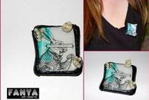 Fanya's handmade brooches / Handmade brooches from Fanya Art Crafts