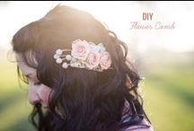 DIY Floral Comb