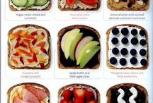 Tastes Good and Good for You / Healthy food nutritious snacks