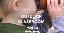 Montessori-style Outdoor Classroom Activities / Simple and very lovely ideas for getting children outdoors in what I call the outdoor classroom. Even if your outdoors is mostly concrete...there's something here for everyone!
