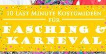 Fasching und Karneval / Schminkideen und DIY Kostüme für alle Skills zum Thema Karneval und Fasching