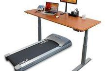 Treadmill, Surf + Bike Desks / Ways to treadmill, surf + bike at your desk for fitness, health and a sharper brain!