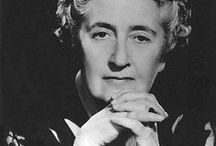 Agatha Christie and her characters / alias: Mary Westmacott Hercule Poirot, Miss Marble etc.