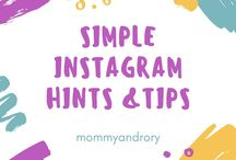 Simple Instagram hints and tips / Are you looking for simple and effective ways to improve your instagram following? Maybe you'd love to improve your engagement or learn how to style your photos. If so then this is the perfect board for you!!