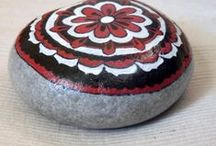 Mandala stones / Beach stones collected from Greek beaches and handpainted with acrylic paints.