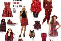 Red Tartan / Get on trend in red tartan