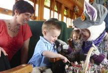 Easter Bunny Train / Welcome Spring with a ride through beautiful farmland with the Easter Bunny as your Conductor. The Easter Bunny will delight boys and girls with a special Easter surprise when they are greeted on board this memorable train.