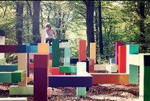Estágio design - recreio infantil / Apoio aos estudantes do Estágio de Design de Equipamento. Imagens de referência, projetos diversos.