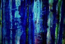 ABSTRACTS / Abstract acrylic and oil paintings