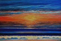 SEASCAPES / Acrylic and oil paintings