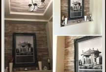 Reclaimed Specialty Wood Finishes / A collection of finishes on brand new wood that's been distressed and finished to look like reclaimed barn wood and other wood finishes with a time worn appeal.