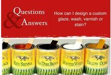 How To's & Tips / Answer all your DIY paint, stain, glaze, and varnish technique questions!