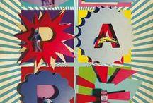 typography paper / Alfabeti e composizioni tipografiche e fotografiche realizzate con carta