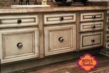 Restyle Junkies' Cabinet Makeover! / Find absolutely breathtaking DIY cabinet stain & finish and home makeover ideas that will simply leave visitors speechless! To contribute to this board, make sure you are following me (Restyle Junkie) , and post a request on one of the recent Restyle Junkie Pins. Feel free to invite fellow pinners! Only add pins related to cabinetry, kitchen & bathroom makeovers, DIY projects, or home makeover in general please. Also, Please no more than 3 pins/ day. (:
