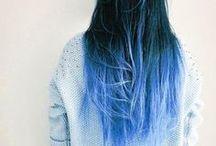 hair style  / wavy hair