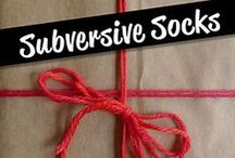 Subversive Socks / Patterns from the book Subversive Socks, by Tabetha Hedrick. www.cooperativepress.com.  Featuring patterns by Tabetha Hedrick, Rebecca Blair, Mara Marzocchi, Josie Mercier, Stefanie Pollmeier, and Jill Wright. / by Cooperative Press