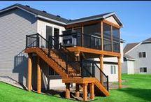 Cedar Decks / Custom cedar deck and porch designs.