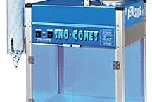 Snow Cone Machine / Snow Cone Machines for home or commercial businesses. Kids love snow cones and the tasty syrup flavors! / by Concession Obsession