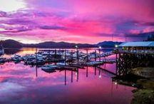 Knudson Cove Marina Ketchikan, Alaska / Pictures of marina and surrounding area.