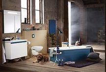 Färgglada badrum / Drömmer du om ett färgglatt badrum? Här finner du färgglad badrumsinspiration från Gustavsbergs serier Logic och Coloric.