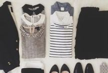 Wardrobe Planning / essentials lists, what to pack for travel, outfit collages