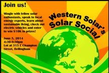 Western Washington Events for Solar Enthusiasts / Want to learn more about solar electric power?  See upcoming solar events to learn more about how photovoltaic systems work in the Pacific Northwest as well as available incentives that make going solar obtainable.  Also check out fun gatherings with fellow Solar Enthusiasts.  This board is hosted by Western Solar Inc. To learn more about us go to www.westernsolarinc.com