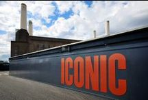Battersea Power Station / Appointed by the Battersea Power Station Development Company, Octink was appointed to ultimatley bring to life the design concepts for the exterior hoarding, signage and large format banners for this iconic scheme.