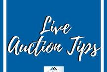 Live Auction Tips / This board provides tips to help make your live auction a success.
