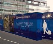 Advertising Hoarding | Canary Wharf Group / To keep up to date with latest projects visit www.octink.com