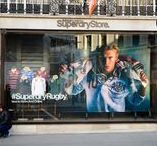 Window Display | Superdry Rubgy / To learn more visit http://bit.ly/2smwhEh
