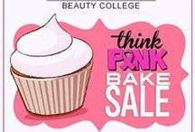 Think Pink! / October is Breast Cancer Awareness Month!  Support the cure, fight like a girl and think pink!