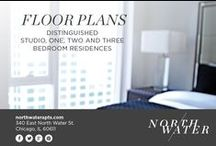 Floor Plans at North Water Apartments / From the 15th to the 50th floor, each stunning residence features refined finishes that set a new standard for apartment living.   Expertly designed, these studio, convertible, one, two and three bedroom residences offer all the comforts of home, only better. With contemporary style and lasting quality, North Water is elegance at its finest.   Select from available floor plans to find your perfect match at http://www.northwaterapts.com/chicago-il-apartments/north-water-apartments.