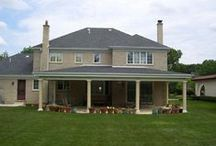 Open Porches and Covered Porches / Open porches custom designed and built by Archadeck of Chicagloand, your premier builder in the Chicago Suburbs.