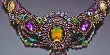 Beading, beadwork, beads / All kinds of beautiful beading - woven, embroidered, knitted..... for jewellery, bags and clothing.