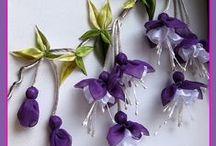 kwiaty z materiałów