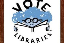 Vote Libraries / America's libraries are more important than ever. From small towns to big cities, libraries continue to support community growth, education for all ages, new business development, and the joy of discovery in the 21st Century. VoteLibraries is your call to action-in-support of our libraries and the librarians who serve diverse communities by providing access for all.