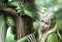 Elves and Dragons.