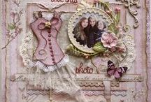 Shabby Scrapbooking Inspiration / This borad is ehre I go when planning to scrap a layout, to get inspired and get my crafty juices flowing.