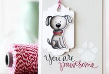 Dog Card Inspiration / I have a pet salon and am a card crafter, so this board will help me be inspired to create dog themed cards to sell in my salon.