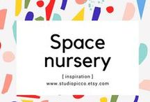 Space nursery /kids rooms / Some inspiration for a space/ starry night themed nursery and childrens bedrooms featuring our wall decals. Most pictures come from our lovely clients, to find out more about products they used visit their blogs. Enjoy!