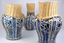 Pronkstuk / Centerpiece is series of sculptural vases with a combination of two traditional Dutch crafts. A combination of fragmented Delfts Blue vases with beautifully hand crafted wicker braiding. Filling in the missing parts of the fragmented vase by elegantly combining the two materials which are visible by contrast.