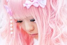 JAPAN FASHION /  COLOR/PASTEL/BOWS/CUTE/GLASSES/DOTS/NEON/COLOR HAIR/PANDA/RINGS/NAILS/BRACELETS/NECKLACES/STARS/SKIRTS.LEGGINGS/DRESSES/LOLITA
