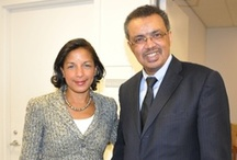 Dr. Tedros meets Susan Rice and President of the UN General Assembly / Dr. Tedros meets Susan Rice, US Permanent Representative to the United Nations and Vuk Jeremić, the President of the 67th Session of the UN General Assembly.
