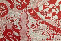 Zentangeling own stuff / Zentangles own creations