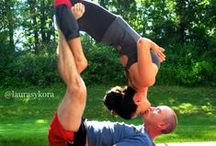 Acroyoga…, yoga for two… / When two become one… I wanna do it with my other half…