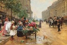 Romantische Art / realistische Romantische schilderijen