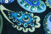 textile artists / Embroidery, texture, fabric manipulation etc